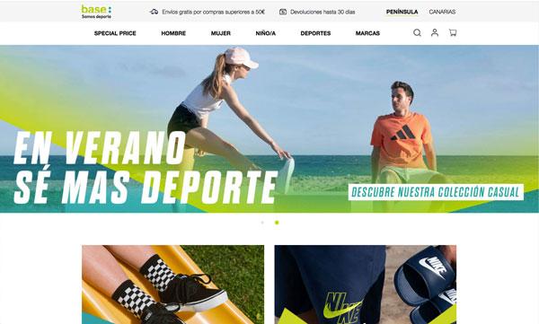 Base Detall Sport rediseña sus webs y centraliza el servicio de las ventas online