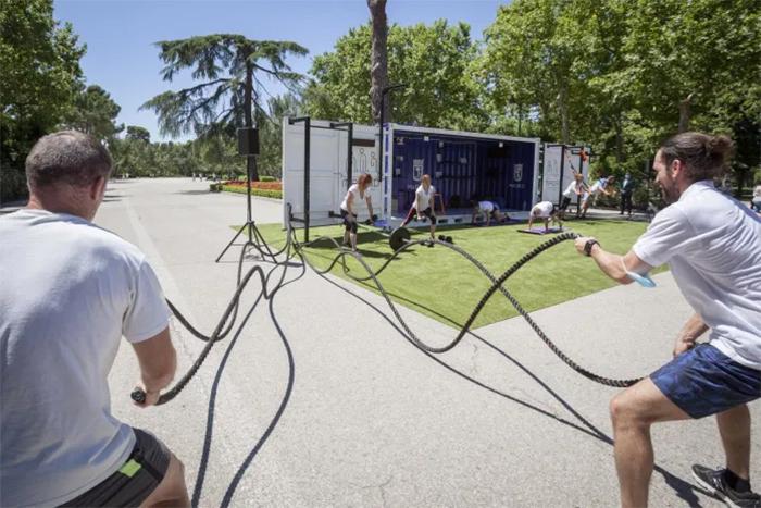Madrid impulsa el fitness al aire libre con gimnasios móviles