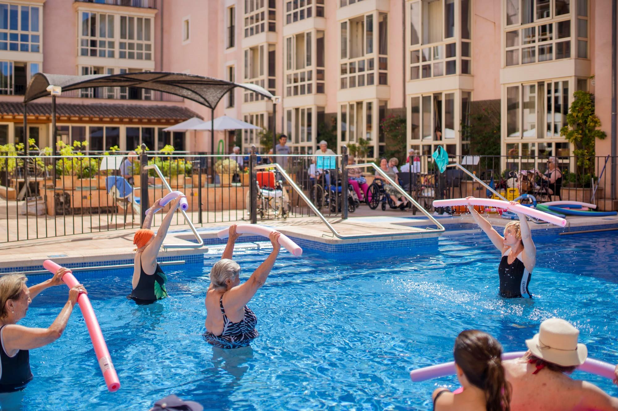 El aquagym se reintroduce en las residencias de mayores
