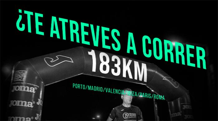 Joma busca runners para recorrer 183 km por Europa de carrera en carrera
