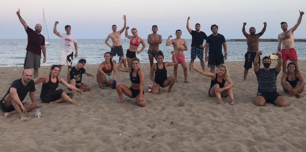 Distrito Estudio relanza su entrenamiento Beach Wod en Barcelona