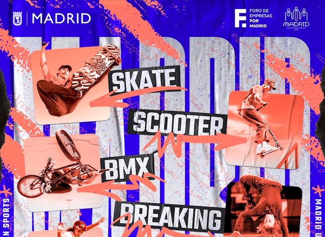 Madrid será la capital de los deportes urbanos el próximo octubre
