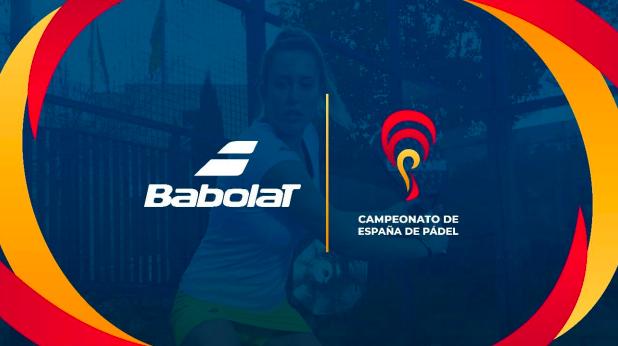Babolat será patrocinador y pala oficial del Campeonato de España de Pádel