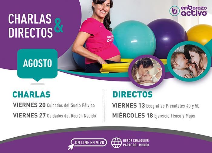 Éxito de participación en las charlas y directos de agosto de Embarazo Activo