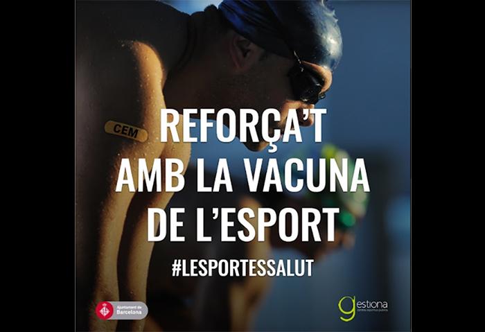 Los gimnasios municipales catalanes se unen bajo el eslogan 'Refuérzate con la vacuna del deporte'