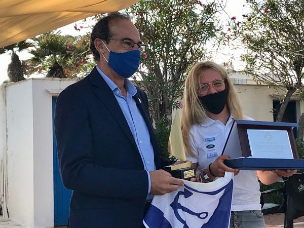 Mar Vilardell primera bicampeona de España de patín a vela junior