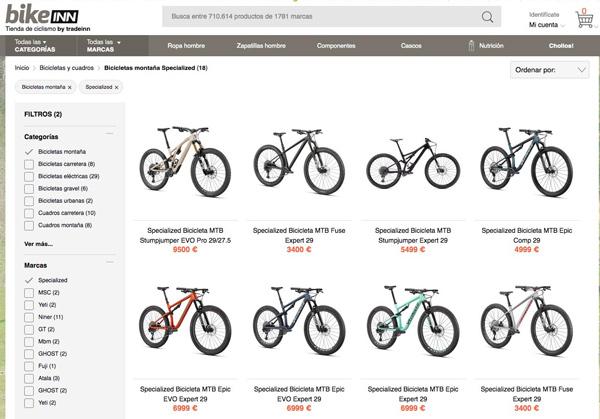 Tradeinn inicia la venta de bicicletas Specialized