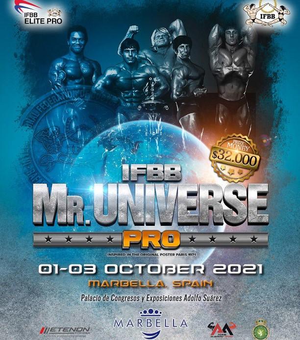 Etenon Fitness es patrocinador oficial de Mister Universe Pro IFBB Elite 2021