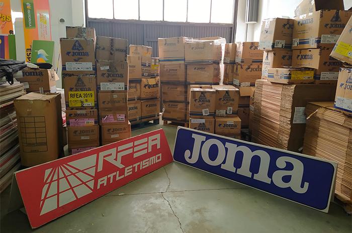 Joma y la RFEA donarán ropa deportiva a los afectados por el volcán de La Palma